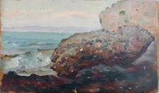 Felsen am Meer, Jean-Baptiste Duffaud 1853, Impressionist, Côte d'Azur