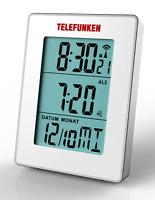TELEFUNKEN FUD-30-S (W) Multifunktions Funkwecker, große Anzeige, weiß