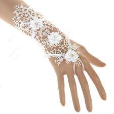 Weiße Brauthandschuhe