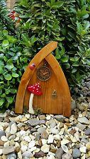 Hand Made Rustic Pine Fairy door Hobbit/Elf Doors for FAIRY garden CLOCK FACE
