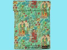 Kantha Quilt Blankets Indian Bedding Bedspreads Handmade Cotton Coverlets Throw