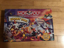 Looney Tunes Monopoly Board Game 8 Pewter Pcs Limited Edition 1999 100% Complete