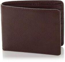 TravelSmith BROWN Men's Leather RFID-Blocking Billfold Wallet NIB