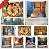 Christmas Tapestry Home Wall Carpet Hanging Cloth Background Xmas Decor