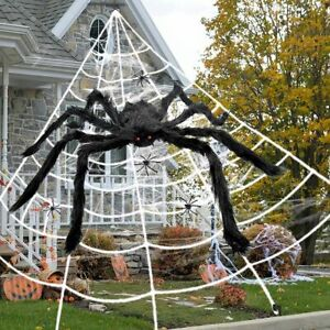 Halloween Outdoor Decoration Spider Web Triangle Giant 35/50/60 inch Huge Size