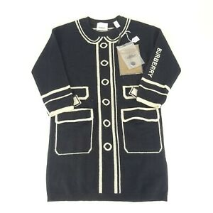 Burberry London Childrens Black Sweater Dress Size 6Y NEW NWT