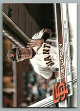 2017 Topps #675B Buster Posey SP/hand raised San Francisco Giants