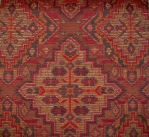 """17 x 17"""" Flowers Geometric Traditional Native Upholstery Weight on Cotton Fabric"""