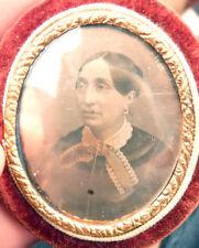 Daguerréotype photographie ancienne portrait de femme 19e siècle