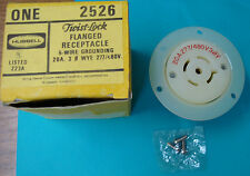 HUBBELL 2526 TIST-LOCK FLANGED RECEPTACLE 5-WIRE GROUND, 20A, 3 Ø WYE, 277/480V