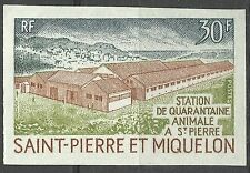 St Pierre & Miquelon Moutons Sheeps Hausschaf Non Dentele Imperf Proof ** 1970