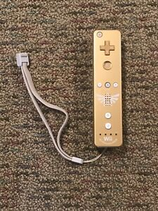 Nintendo Wii Remote Legend of Zelda Skyward Sword Wiimote Gold Limited - Tested