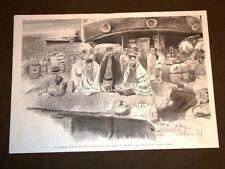 Anno 1907 Sui piroscafi di Russia Mar Nero 3a classe La preghiera degli Ebrei