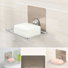 Durable Self Adhesive Soap Dish Stainless Steel Holder For Home Kitchen LIW