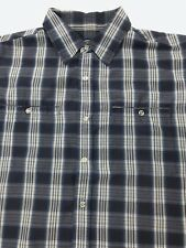 Gotcha Mens XL Snap Plaid S/S Button Up Shirt NICE (C3)
