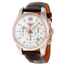 Longines Conquest Classic White Dial Chronograph Automatic Mens Watch L27865763