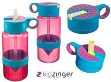 Pink Kid Zinger + Drink STRAW Water Bottle Citrus Zinger for Kids Zing Anything