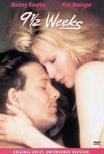 New Sealed 9 1/2 WEEKS Mickey Rourke Kim Basinger DVD Movie Uncut Uncensored