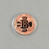 1PCS Solid Copper Commemorative Bitcoin Collectible Golden Iron Miner Coin XN17