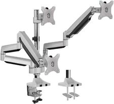 AVLT-Power Aluminum Triple Monitor Gas Spring Desk Mount Fully Adjustable Arms