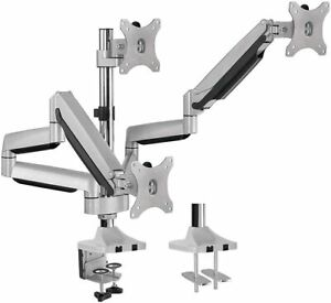 AVLT Aluminum Triple Monitor Gas Spring Desk Mount Fully Adjustable Arms