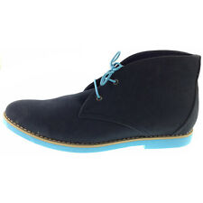 Franco Vanucci Men's Casual Boot Navy Suede Lace Up 502-3 Size 10 US