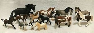 Schleich Realistic Farm Barn Animals Lot Of 13 Figures Toys Horses Ponies Foals