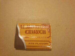 1x almond crunch  Vintage 1980s Eraser. Unused