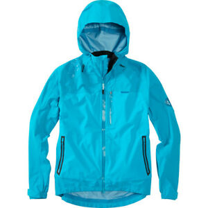 Madison DTE Mens 3-layer waterproof storm jacket, Caribbean blue.