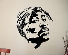 Tupac Wall Decal 2pac Vinyl Sticker Popular Rapper Hip-Hop Art Bedroom Decor 2tp