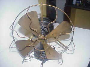 Antique Marelli fan,Embossed motor and base.Fixed head.Early.