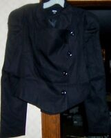 ASOS Black Jacket Blazer Cowl Front Misses size 10 New