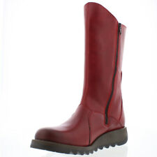 Womens Fly London Mes 2 Rug Leather Closed Toe Wedge Heel Mid Calf Boot UK 3-9