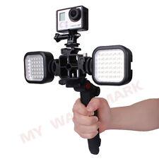 Frame Mount+LED Light Lamp+Tripod Stand+Flash Hot Shoe Bracket For Gopro 3 3+ 4