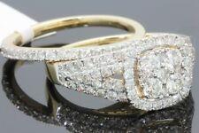 10K YELLOW GOLD 1.67 CARAT WOMENS REAL DIAMOND ENGAGEMENT RING WEDDING BAND SET