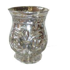 Teelichthalter Windlicht Kerzenhalter, Glas silber Ø10xH14cm Clayre & Eef