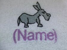 DONKEY design Embroidered on a Adult Robe with Personalised Name shrek