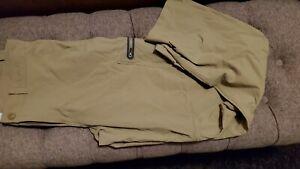 LL Bean Mens Sz 35x 34 khaki Convertible Zip off Pants Cargo