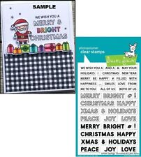 Lawn Fawn OFFSET SAYINGS: CHRISTMAS Clear Stamps Set LF2026 Christmas