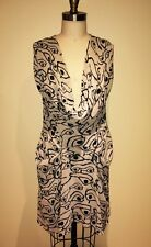 "By Malene Birger ""Jasione"" Silk Eye of Horus  Sleeveless Drape Dress Sz 36/US 8"
