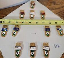 Set of 11 Rare Vintage Russian Soviet CCCP Football Soccer Club Enamel Pins