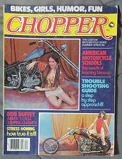 CHOPPER CUSTOM MOTORCYCLE PARTS GUIDE MAGAZINE 1978 SUMMER HARLEY TRIUMPH HONDA