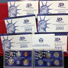 6 Set Lot 2001-S  10 Coin Proof Sets ORIGINAL
