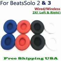 Replacement Ear Pads Cushion For Beats Dr Dre Solo 2 & 3 Wireless/Wired