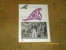 Bee Gees sheet music WORDS 1968 3 pages (VG+ shape)