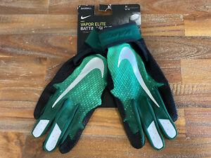 Nike Vapor Elite Green/Black Baseball Batting Gloves Size Medium PGB598 090 New