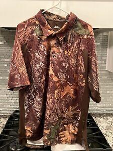 Under Armour Men Regular Camo Mossy Oak Print Short Sleeve Polo 2XL Shirt