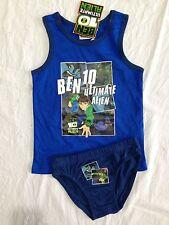 BNWT Boy's Sz 4/5 Blue Ben 10 Underwear Set Singlet/Tank & Undies 100% Cotton