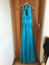 js boutique turquoise ruche satin maxi dress uk 8 14 bnwt