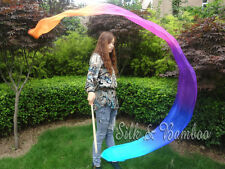 "2.5m*0.3m(98""x12"") light silk worship streamer, turquoise-blue-purple-pink-oange"